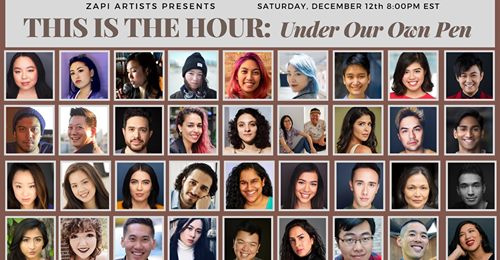 ZAPI Artists presents THIS IS THE HOUR: UNDER OUR OWN PEN